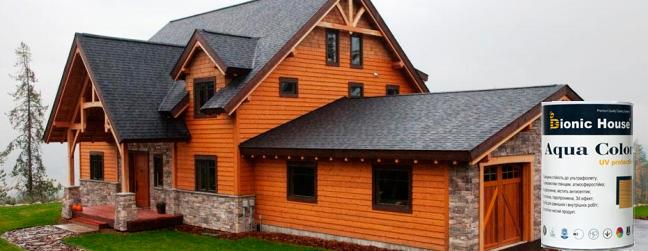 BIONIC HOUSE AQUA COLOR УФ-стойкая краска для дерева