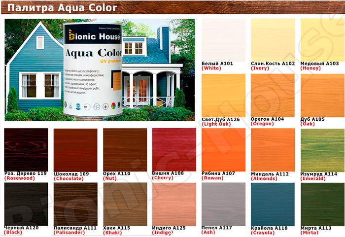 BIONIC HOUSE AQUA COLOR цветовая палитра