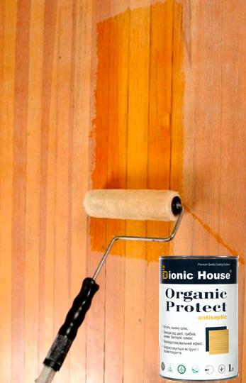 BIONIC HOUSE ORGANIC PROTECT (Бионик Хаус Органик Протект) - состав для антисептического грунтования древесины