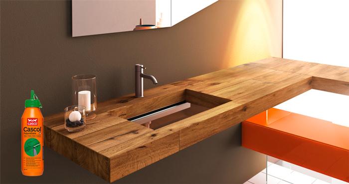 Клей CASCO CASCOL POLYURETAN используется для деревянных изделий, которые находятся  в контакте с водой