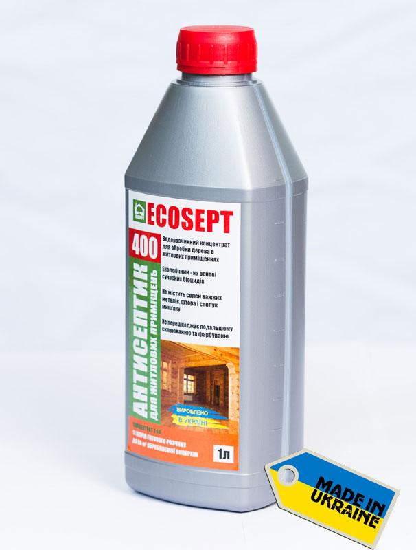 ECOSEPT 400 - глубокопроникающий антисептик для внутренних работ, концентрат 1:5, купить в Киеве, лучшая цена в Украине