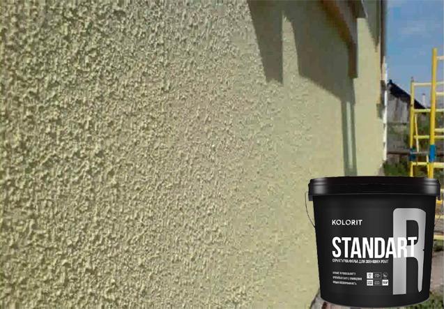 KOLORIT STANDART R (КОЛОРИТ СТАНДАРТ Р) - структурная фасадная краска