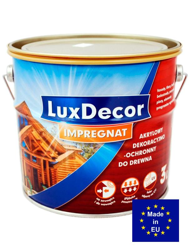 LuxDecor Impregnat защитный акриловый текстурный состав для дерева