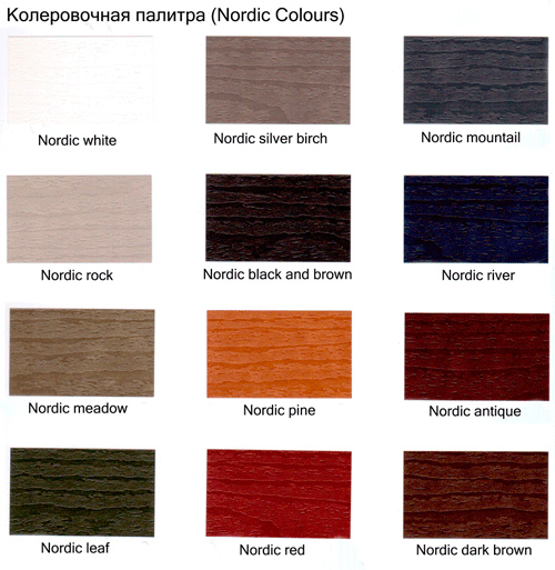 Палитра Pinotex Nordic Colours