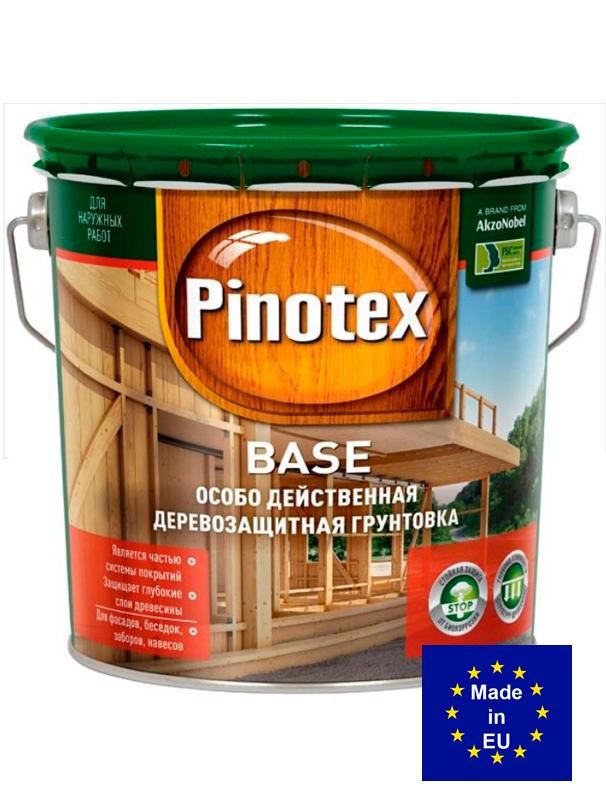 Pinotex Base - глубопроникающая антисептическая грунтовка под краску, база под лакокраску