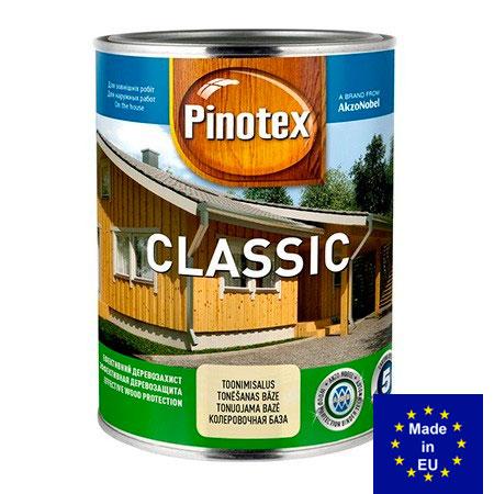 Pinotex Classic - деревозащиный тектсурный состав без образования пленки