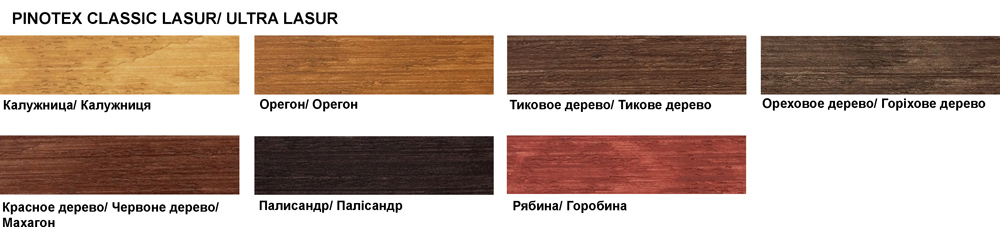PINOTEX ULTRA LASUR Main Colors