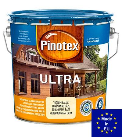 Pinotex Ultra - деревозащиный тектсурный состав с УФ-фильтром. Купить в Киеве, лучшая цена в Украине