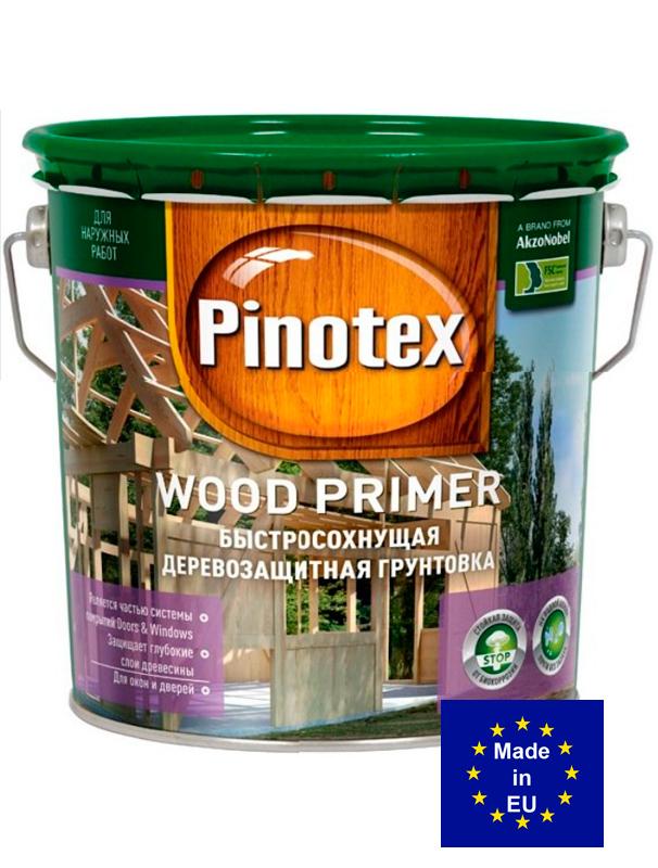 Pinotex Primer - глубопроникающая антисептическая грунтовка под акриловые краски, база под краску на водной основе