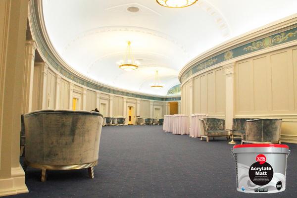 Холл театра покрашен износостойкой краской ViIVACOLOR ACRYLATE MATT