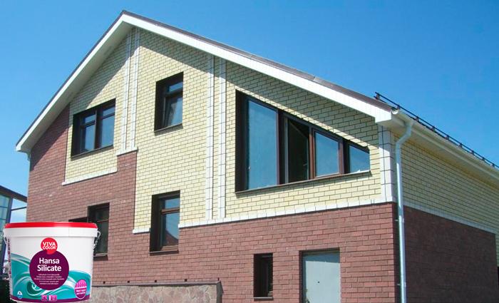 Фасад дома покрашен VIVACOLOR HANSA SILIKATE