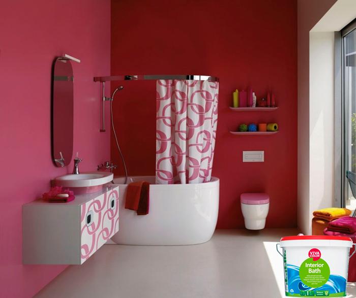 Влагостойкая краска для ванны VIVACOLOR INTERIOR BATH