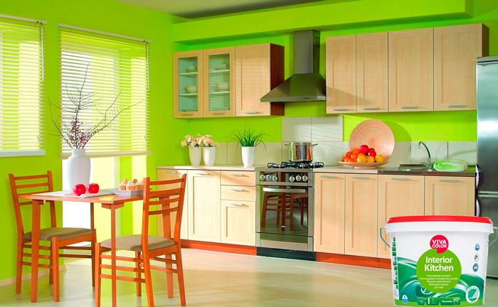 Моящаяся краска для кухни Vivacolor Interior Kitchen