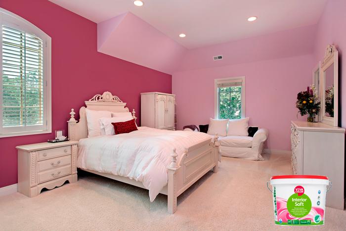 Краска VIVACOLOR INTERIOR SOFT идеально подходит для детских и спальных компнат