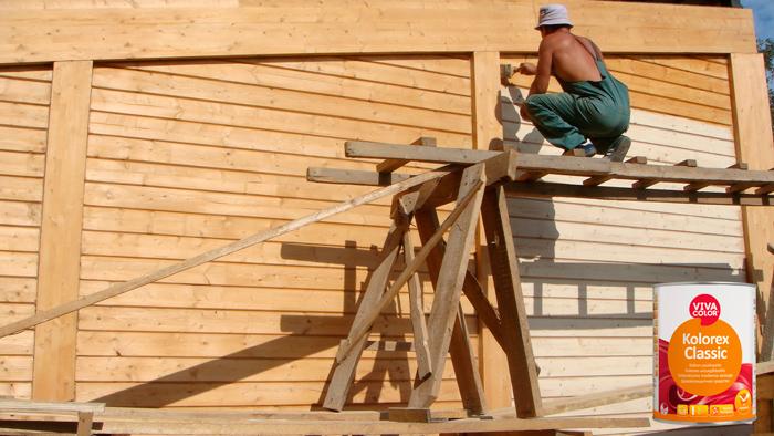 VIVACOLOR KOLOREX CLASSIC - деревозащитная пропитка для фасада