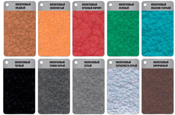 ZIP-GUARD METAL FINISH молотковая покраска цвета