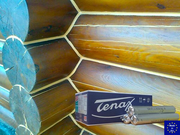 Герметизация сруба герметиком Tenax Tenaplasts