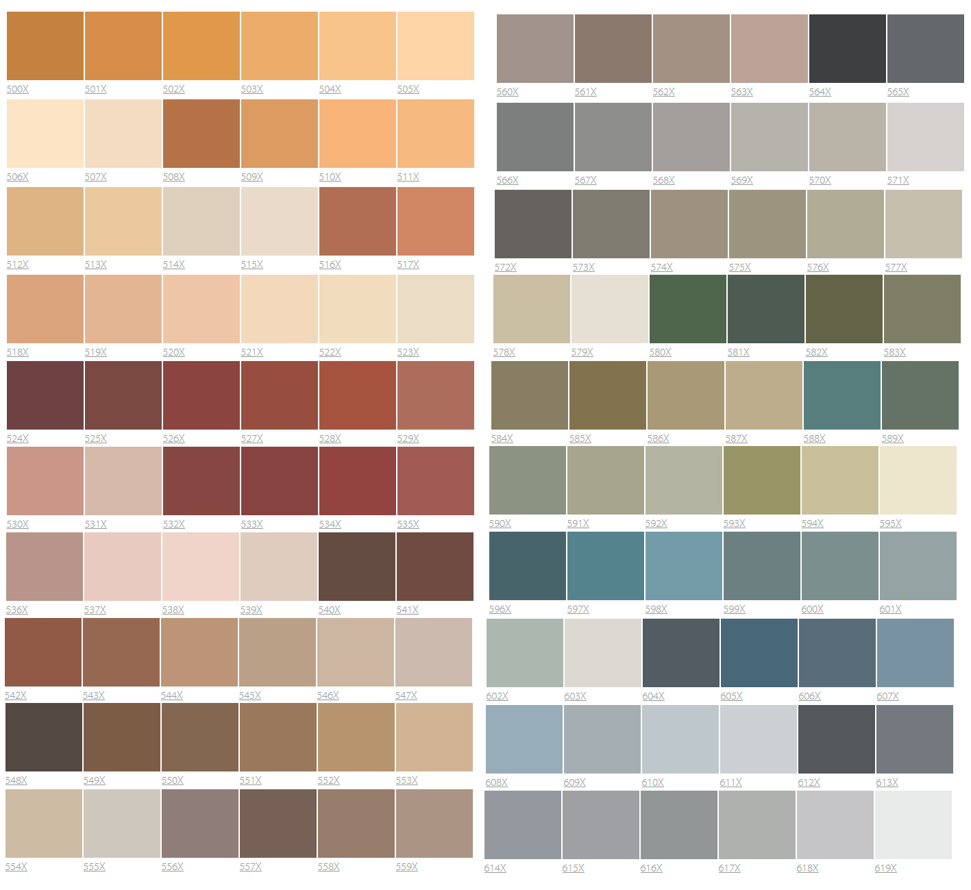 цвета фасадных красок